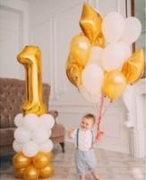 "Воздушные шары ""Gold & White"""