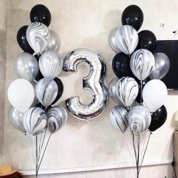 """Воздушные шары """"Черное и белое 7"""""""