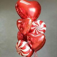 """Воздушные шары """"Большое красное сердце"""""""