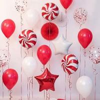 """Воздушные шары """"Красно-белый микс"""""""