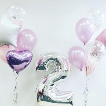 """Воздушные шары """"День рождения малышки"""""""