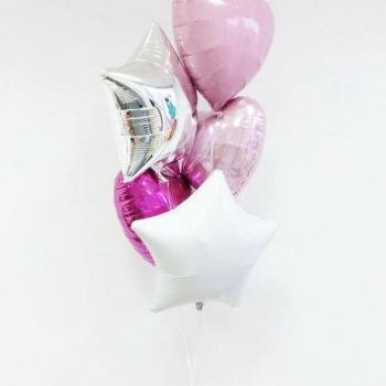 """Воздушные шары """"Сердце звезды"""""""
