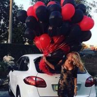 """Воздушные шары """"Красно-черные"""" 100 шт."""