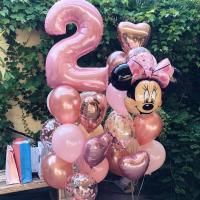 """Воздушные шары """"Минни Маус на 2 года"""""""