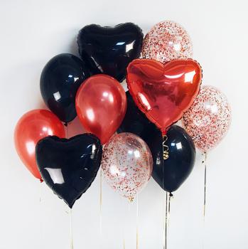 """Воздушные шары """"Черное сердце"""""""