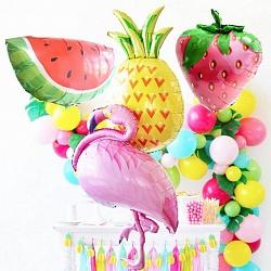 """Воздушные шары """"Фламинго и фрукты"""""""
