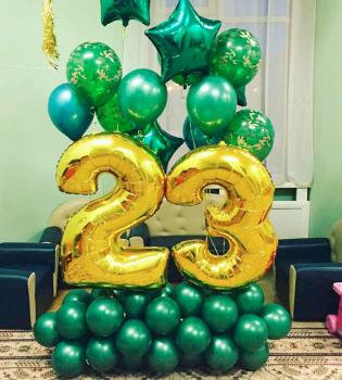 Воздушные шары на 23 февраля №5