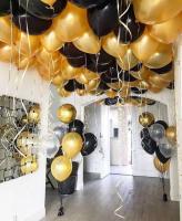 """Воздушные шары """"Gold & Black"""""""
