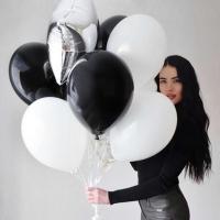 """Воздушные шары """"Черно-белые №1"""""""