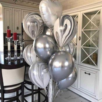 """Воздушные шары """"Серебро"""""""