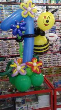 Пчела Майа на цифре 1