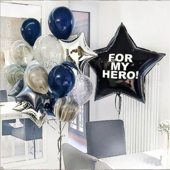 "Воздушные шары ""For my hero!"""