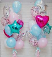 """Воздушные шары """"Сердца и звезды"""""""