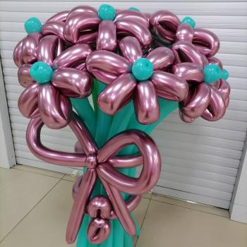 Букет цветов хром