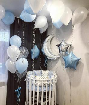"""Воздушные шары """"Boy 1 - Для мальчика на выписку"""""""