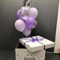 """Воздушные шары """"Подарок в коробке"""""""