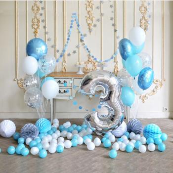 """Воздушные шары """"Голубая нежность"""""""