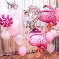"""Воздушные шары """"Фотозона с фламинго"""""""