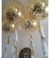 """Воздушные шары """"Золото конфетти"""""""