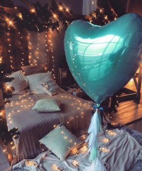 """Воздушные шары """"Сердце Blue"""""""