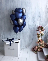 """Воздушные шары """"Коробка-сюрприз с шарами для него"""""""