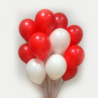 """Воздушные шары """"Красно-Белое 50 шт."""""""