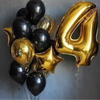 """Воздушные шары """" gold and black"""""""