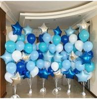 """Воздушные шары """"Градиент синий"""""""