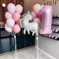 """Воздушные шары """"Единорог нежно розовый"""""""