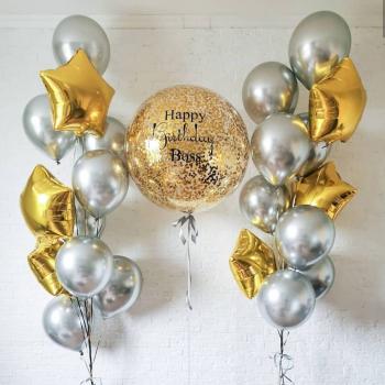 """Воздушные шары """"Стильный хром"""""""