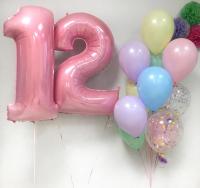"""Воздушные шары """"Макарунс с цифрами"""""""