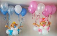 Бебики на воздушных шариках ( цена за одного бебика)