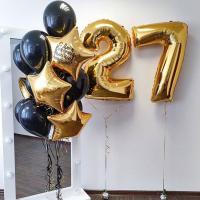"""Воздушные шары """"Золотые цифры"""""""