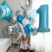 """Воздушные шары """"Нам сегодня годик"""""""