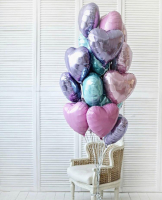 """Воздушные шары """"15 нежных сердец"""""""