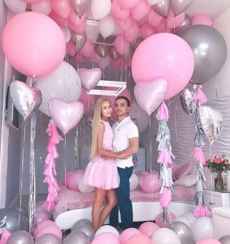 """Воздушные шары """"Розовое счастье"""""""