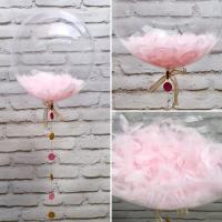 """Воздушные шары """"Deco bubbles 50 см с перьями или конфетти 1 шт."""""""