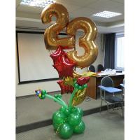 Воздушные шары на 23 февраля №3