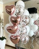 """Воздушные шары """"Розовое золото и белый"""""""