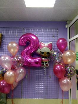 """Воздушные шары """"Кукла Лол"""""""