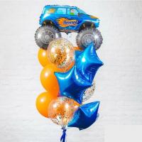 """Воздушные шары """"Машина синий"""""""