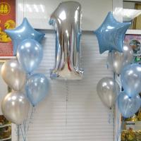 """Воздушные шары""""Нам сегодня годик"""""""