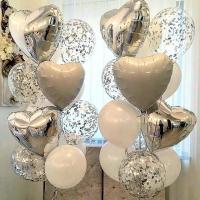 """Воздушные шары """"Белые сердца"""""""