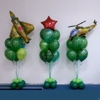 Воздушные шары на 23 февраля №1