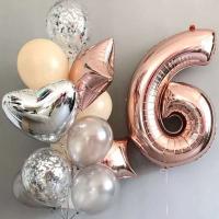 """Воздушные шары """"Розовое золото 6"""""""