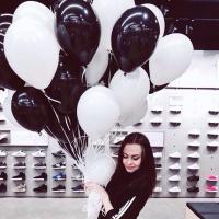 """Воздушные шары """"Черно-белые №3"""""""