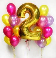 """Воздушные шары """"Яркий день рождения"""""""