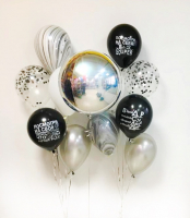 """Воздушные шары """"Серебряная сфера """""""