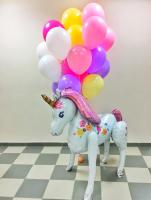 """Воздушные шары """"Ходячий Единорог и нежное ассорти"""""""