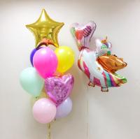 """Воздушные шары """"Единорог с шариками"""""""